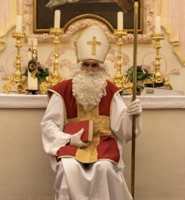 Der Nikolaus bei uns zu Besuch-